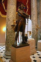 John Sevier bronze statue in U.S. Capitol, Washington, DC.