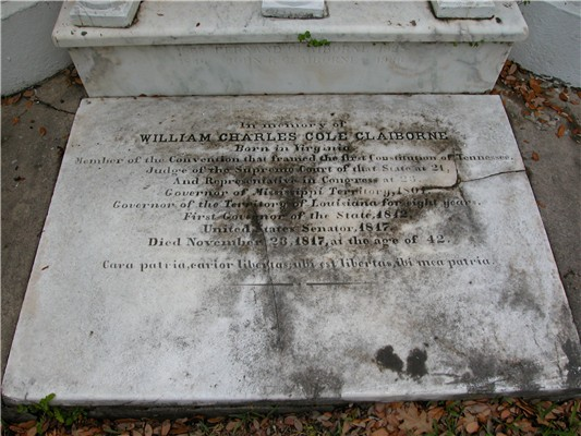 Image:Claiborne, William C C - grave marker.jpg