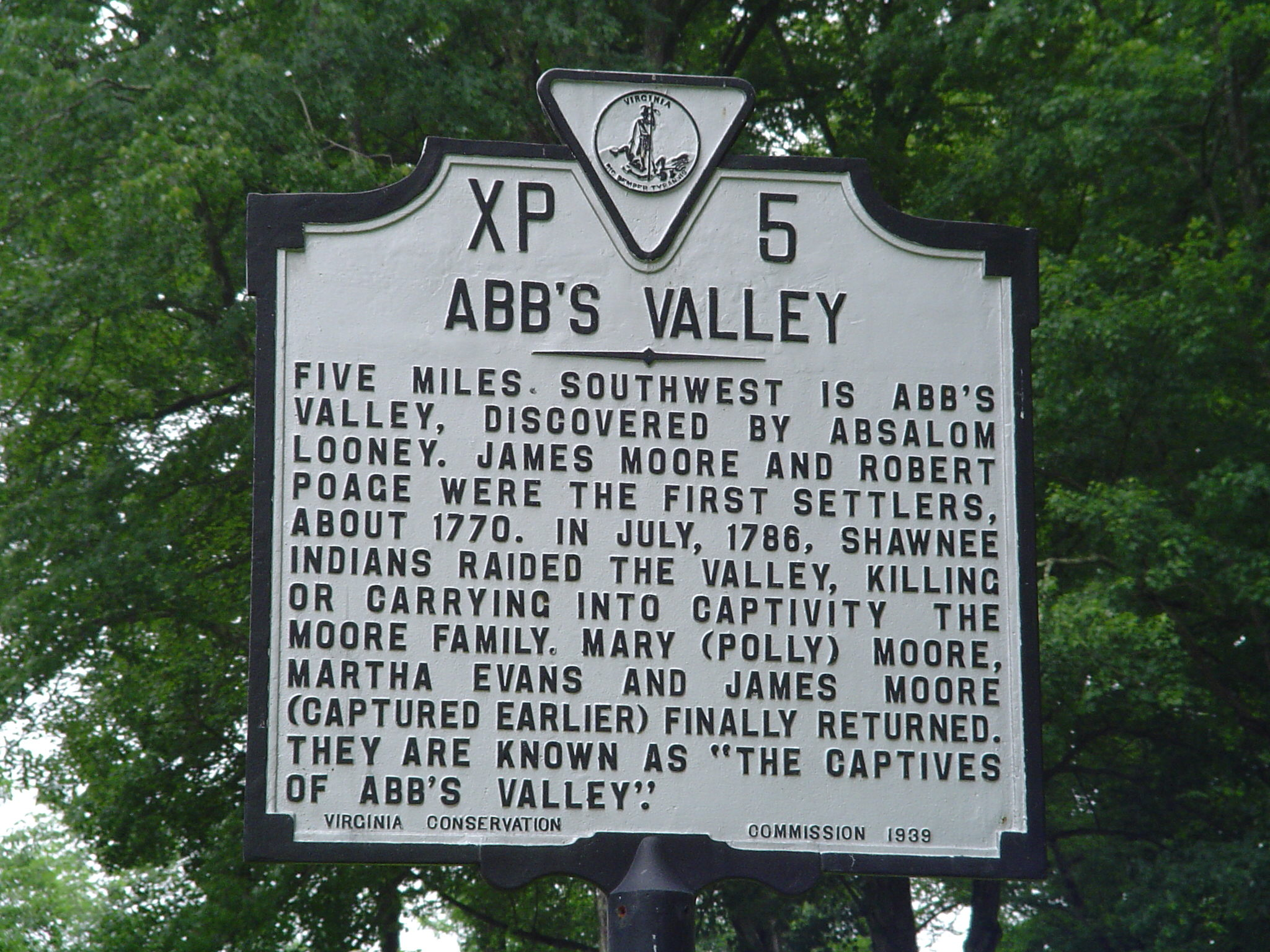 Image:Virginia, Tazewell county, Historical Marker XP-5.jpg