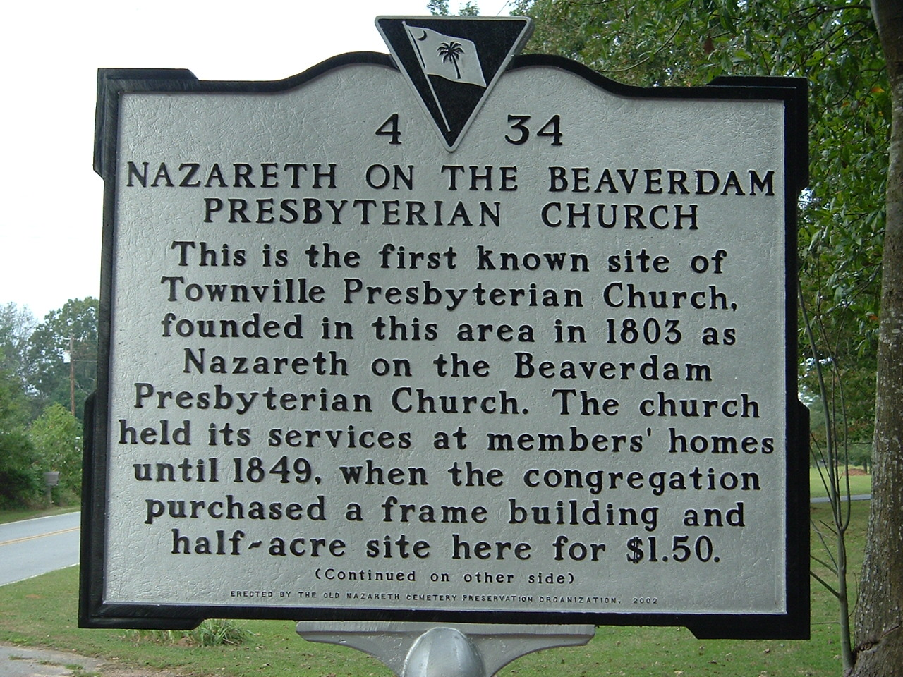 Image:Townville Presbyterian Church sign 1.jpg