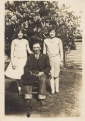 Mildred & Mabel, twins 1929, dad, Arthur