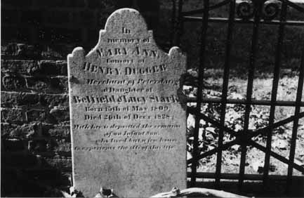 Mary's tombstone, shared by Sid Young