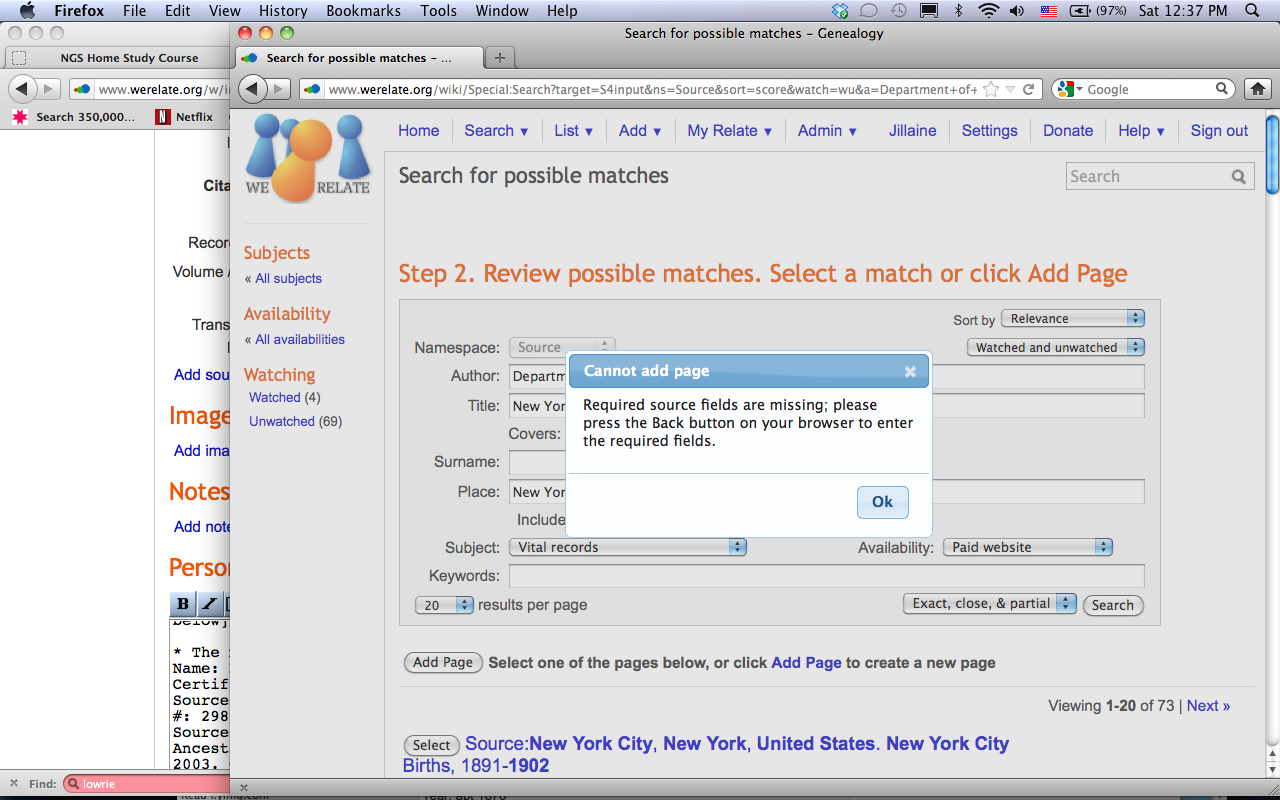 Image:Screen Shot of Rejected Source Add Page Request.png
