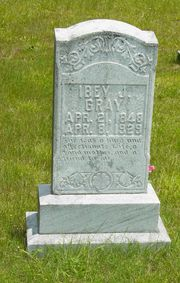 Ibey Harrell Gray, April 21, 1848 - April 8, 1929