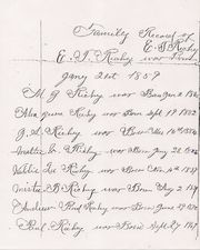 Family Record of E. T. Richey-Births