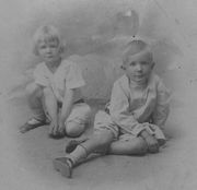Paul (on right), about age 5, with brother Frank