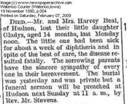 Obituary of Gladys Beal