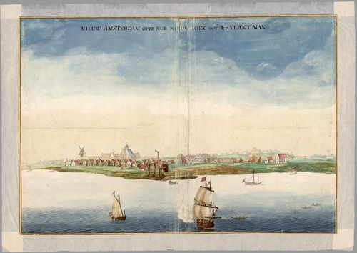 A view of Manhattan by Johannes Vingboon, about 1664