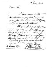 Wm Bainbridge to Robert Kennedy, 1 Jan 1829