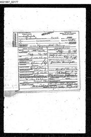 Death certificate for daughter Margery
