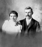 Elbert Nixon and Nellie Mallock's Wedding Photo
