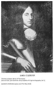 Son: Thomas Culpeper, Baron of Thorseway