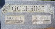 Flossie Wharton and William Goehring gravestone