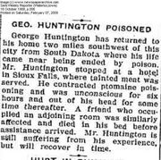 George Huntington Poisoned