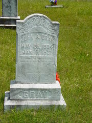 John A Gray, May 25, 1834 - Jan 7, 1921
