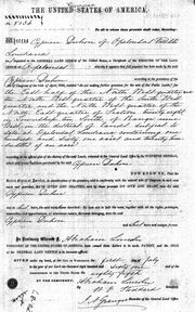 Land Title Signed by Abraham Lincoln on 1 Jul 1861