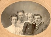 Erlow and Grace with son Albert Mott Davis and Grace's daughter Gladys Booth