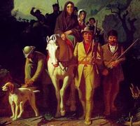 Daniel Boone leading a party through the Cumberland Gap