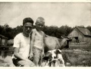 Gene and Donald Bradley on the farm