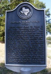 Texas Historical Marker: Captain Henry Stout