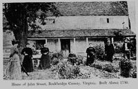 The Stuart Family, in front of the home of  James Walker and Mary Guffey on Walkers Creek.
