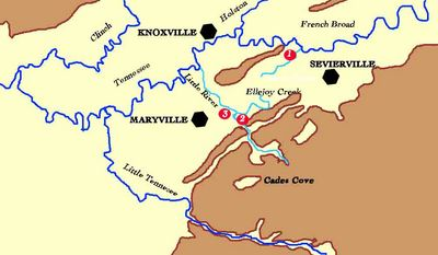 Land of :1.David Cowan:2.  John Walker IV and :3. William Cowan,In Sevier and Blount Counties, TN about 1786