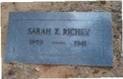 Sarah Zorada Gray Richey, 28 Dec 1859 - 3 May 1941