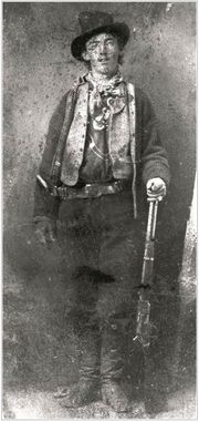 William Bonney, also known as Billy the Kid, is pictured this undated ferrotype image, circa 1880, the only known photographic image of the outlaw known to still exist.