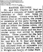 Easter Reunion at Charles Beal Home