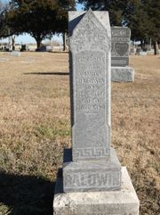 Tombstone of Catharine Beal Baldwin