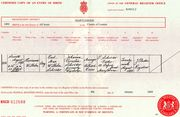 Birth Certificate of Hermanus Wilhelm Schröder