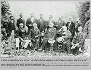 1869 - Robert E Lee and his Confederate Generals - Lee, seated 2nd from left