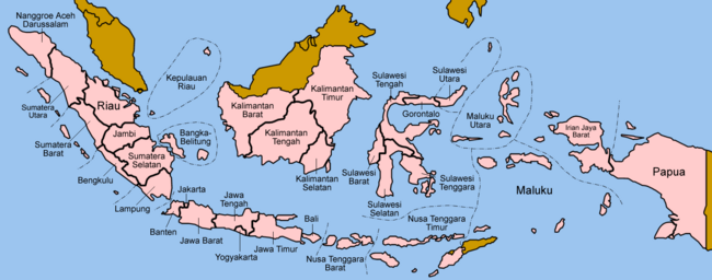 Map of the 2006.- Larger map - 2006 EN - 2006 NL - Wikipedia Indonesian, Provinces of Indonesia in 2013