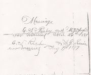 Family Record of E. T. Richey-Marriages
