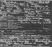 Death Record of Sadie Beal Huntington