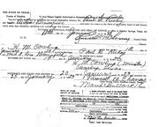 Richey/Brownfield  Marriage License