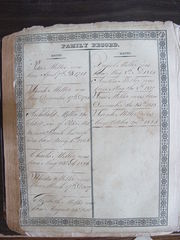 Miller Family Bible - Births 2
