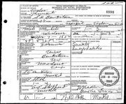 Sam Houston Bankston - death certificate