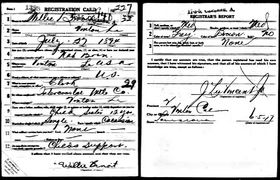 Willie Benoit's WWI Registration Card [2]