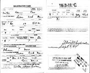WW I Draft Card