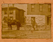 Henry Wilson with Milk Wagon