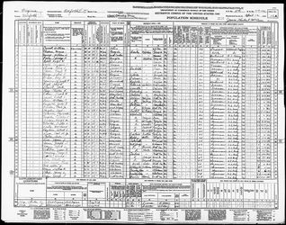 1940 Census page