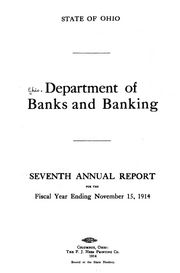 State of Ohio Dept of Banking Report 1914