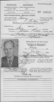 Wilson's South African Driver's license