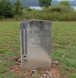 Oconostota's grave at the Chota memorial, in Monroe County, Tennessee.