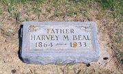 Tombstone of Harvey Beal at Round Lake Cemetery, MN
