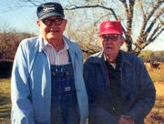 Fred Addison and Herb Fields on the Field's Farm