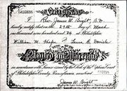 Marriage certificate for William Kiefer and Laura Daniels