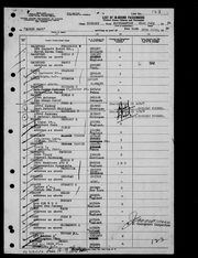 1954 tourist trip immigration record