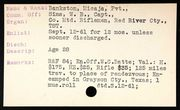 file card showing details of Micaja's enlistment in 9th Texas Cavalry